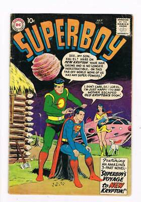 Superboy # 74 Superboy's Voyage to New Krypton ! grade 4.0 scarce book !!