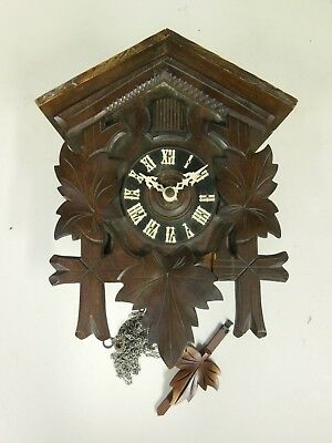Wooden Cuckoo Clock - Incomplete, for spare parts only