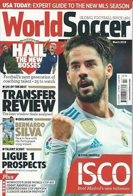 WORLD SOCCER- March 2018 issue (NEW) *Post included to UK/Europe/USA/Canada