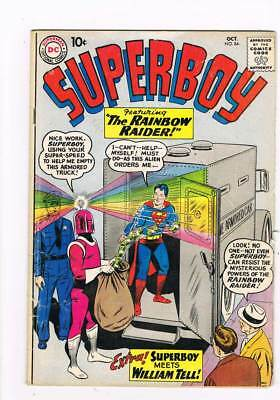 Superboy # 84 Superboy Meets William Tell ! grade 4.0 scarce book !!