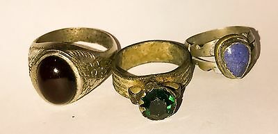 Lot of 3 Old rings Vintage Antique Medieval Style