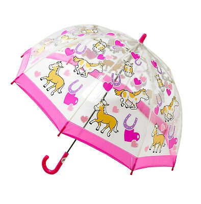 Bugzz Kid's Stuff Children's PVC Umbrella - Pony and Hearts