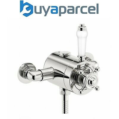 Edwardian Traditional Dual Control Thermostatic Exposed Shower Mixer Valve
