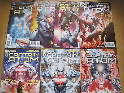 CAPTAIN ATOM  #s 1,2,3,4,5,6,7.  GREAT COVERS !!   DC THE NEW 52.  DC. 2012