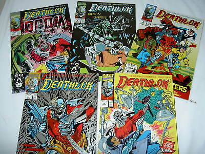 """DEATHLOK  1,2,3,4,5. 1st 5 ISSUES OF 1991 SERIES. Incl """"Souls""""story. MARVEL.1991"""