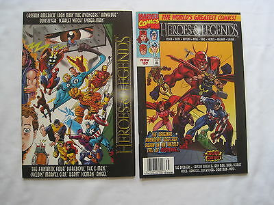 Marvel Heroes & Legends : Both Issues. Everybody's Here! Romita,ditko,colan.1997