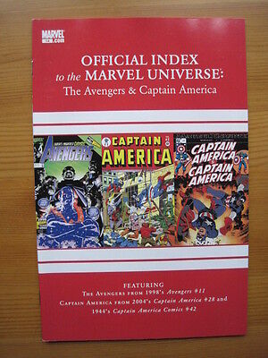Official Index of the MARVEL UNIVERSE  # 14 - AVENGERS,THOR,CAPTAIN AMERICA.2010