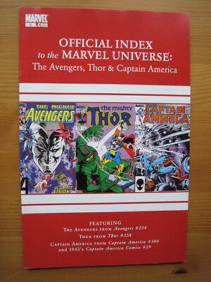 Official Index of the MARVEL UNIVERSE  # 8 - AVENGERS,THOR,CAPTAIN AMERICA. 2010