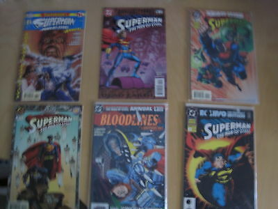 SUPERMAN THE MAN of STEEL ANNUAL s 1,2,3,4,5,6. 1992-1997.ELSEWORLDS,YEAR ONE et