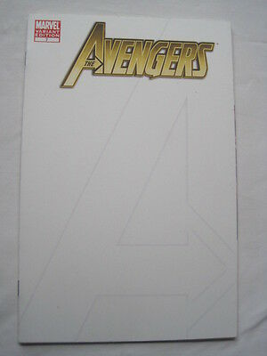 The AVENGERS  7 BLANK VARIANT Edition. By BRIAN BENDIS & Romita Jr. MARVEL.2011