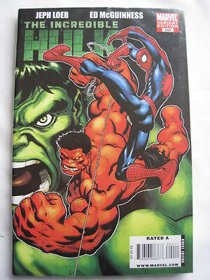 THE INCREDIBLE  HULK  600. VARIANT GIANT SIZE by  LOEB & McGUINNESS. MARVEL.2009