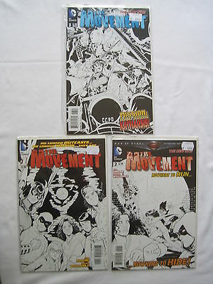 The MOVEMENT #s 1,2,3 ALL VARIANT S by SIMONE & WILLIAMS II. DC THE NEW 52.2012