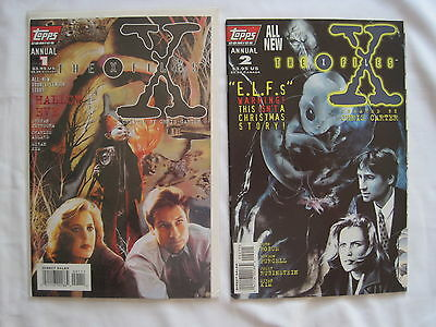 THE X FILES : annuals 1 & 2. MULDER, Scully. CHARLIE ADLARD. TOPPS. 1995,1996