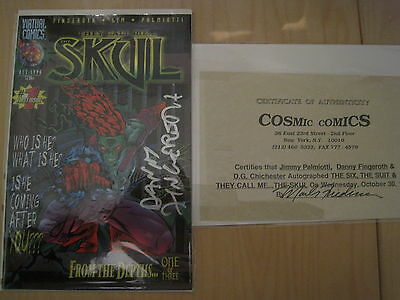 They Call Him The SKUL 1 signed by JIMMY PALMIOTTI, DANNY FINGEROTH.VIRTUAL.1996