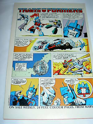 Transformers   Strip Featured In Dragon's Claws  1. Marvel   1988