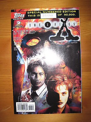 THE X FILES # 2. SPECIAL NUMBERED EDITION - 2nd EVER ISSUE. MULDER. TOPPS 1995