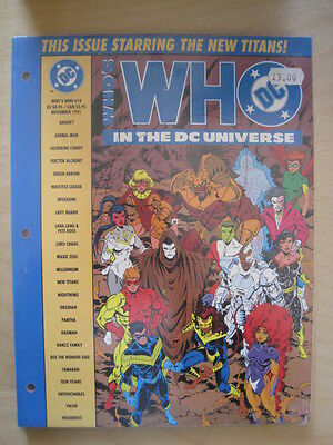 Who's Who In The Dc Universe # 14.new Art & Entries In A4 Loose Leaf Format.1990