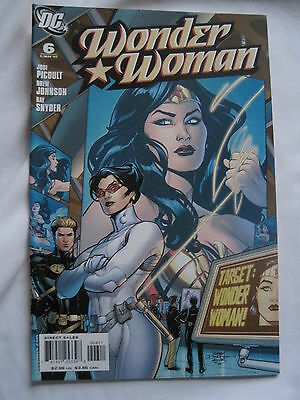 WONDER WOMAN  # 6 by JODI PICOULT, JOHNSON & SNYDER. GREAT COVER! DC. 2007