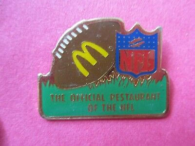 McDonald's The Official Restaurant of the NFL Football Lapel Pin