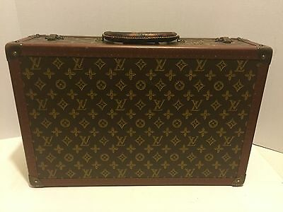Vintage Louis Vuitton Stenciled Hard Case Trunk 1930's /40's  Luggage Rare Find!
