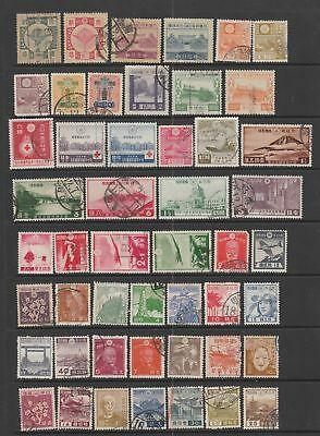 Japan early - mid period collection , 63 stamps.