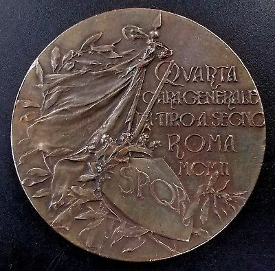 1902 Rome Shooting contest bronze medal! 60 mm, 105 grams!