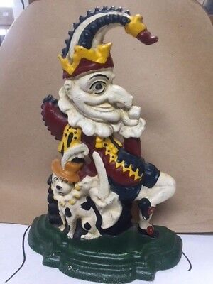 Extremely NICE and original Punch and Judy Cast Iron Door Stop