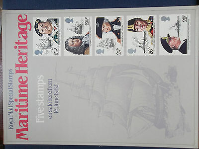 Royal Mail A4 Post Office Poster 1982 Maritime Heritage Nelson Blake Mary Rose