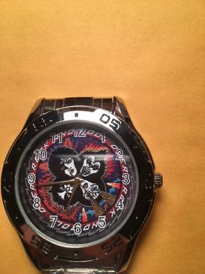 Kiss Rock and Roll Over Stained Glass Men's Watch