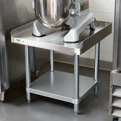 "24"" x 24"" Stainless Steel Work Kitchen Table Commercial Equipment Mixer Stand"