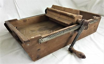 1875 antique WOOD BUTTER WORKER CHURN dairymens supply co phila lansdowne pa