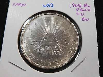 W52 Mexico 1908-Mo Peso Choice BU