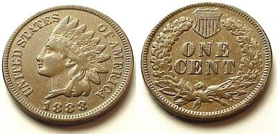"""X/f+ 1888 Indian Head Penny- Sharp """"liberty"""" & Details! Choice Color! Free Ship!"""