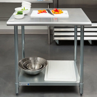 "NEW!! 30"" x 36"" Stainless Steel Work Prep Table Adjustable Undershelf Restaurant"