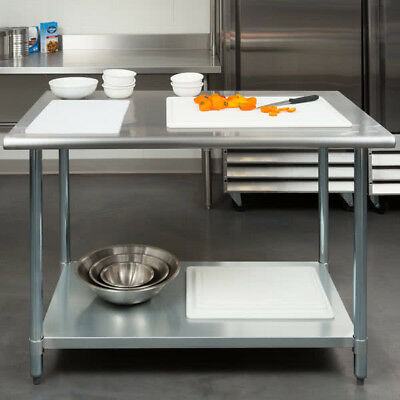 "NEW!! 30"" x 48"" Stainless Steel Work Prep Table Adjustable Undershelf Restaurant"