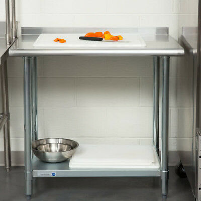 """NEW Commercial 24"""" x 36"""" Stainless Steel Work Prep Table With Backsplash Kitchen"""