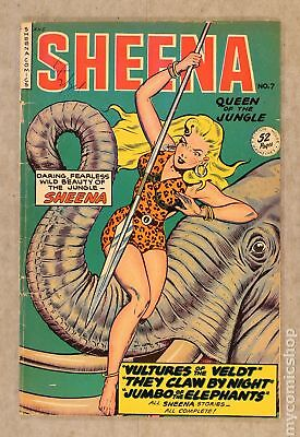 Sheena Queen of the Jungle (Fiction House) #7 1950 VG+ 4.5