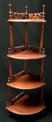 Ornate Mahogany Victorian Style Tiered Corner Display Stand What Not Shop Home