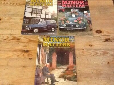 3  X Minor Matters Magazines from 2005
