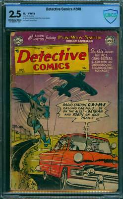 Detective Comics # 200  Radio Station CRIME !  CBCS 2.5 scarce Golden Age book !