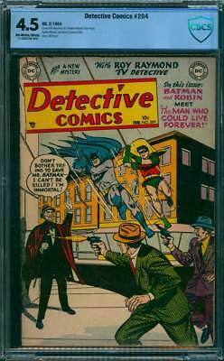 Detective Comics # 204  I Can't be Killed !  CBCS 4.5 scarce Golden Age book !