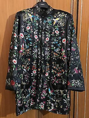 Antique Chinese Hand Embroidered Robe Good Condition
