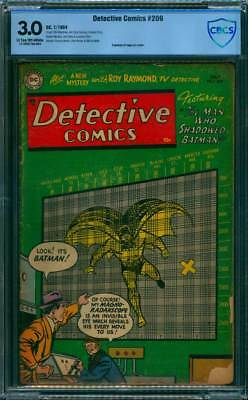 Detective Comics # 209  The Shadow-Batman !  CBCS 3.0 scarce Golden Age book !