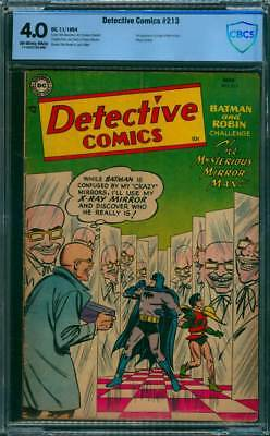 Detective Comics # 213  The Mirror Man !  CBCS 4.0 scarce Golden Age book !