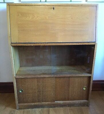 Vintage Wooden Bureau Ideal Upcycling Project Perfect For A Hallway
