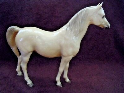 Vintage Unmarked Traditional Western Horse Molded Hard Plastic Toy