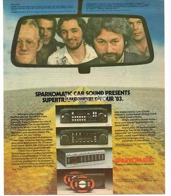 1983 Sparkomatic Car Stereo Audio Systems SUPERTRAMP Vtg Print Ad