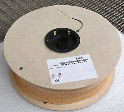 500 METER CABLE ROLLE 2xSTAHLDRAHT MIT ABSCHIRMUNG LEONI V45467-F14-C25-L6 MM