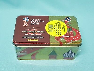 Panini Adrenalyn World Cup Russia 2018 Tin Box inkl. 3 x Limited Edition WM