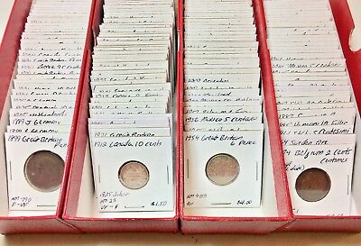 1800s-1900s World Lot of 150 Carded Coins with Silver, many BU-AU Lot #2